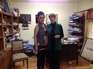 Margaret Owen meets with Erin Keskin, human rights lawyer
